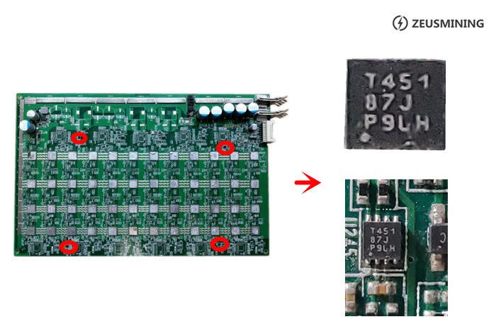 hash board T451 Temp Sensor