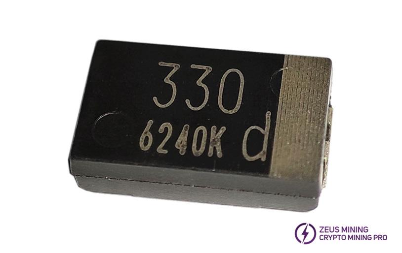 330 UF tantalum capacitor