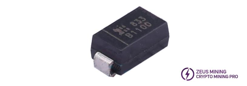 B1100 schottky diodes